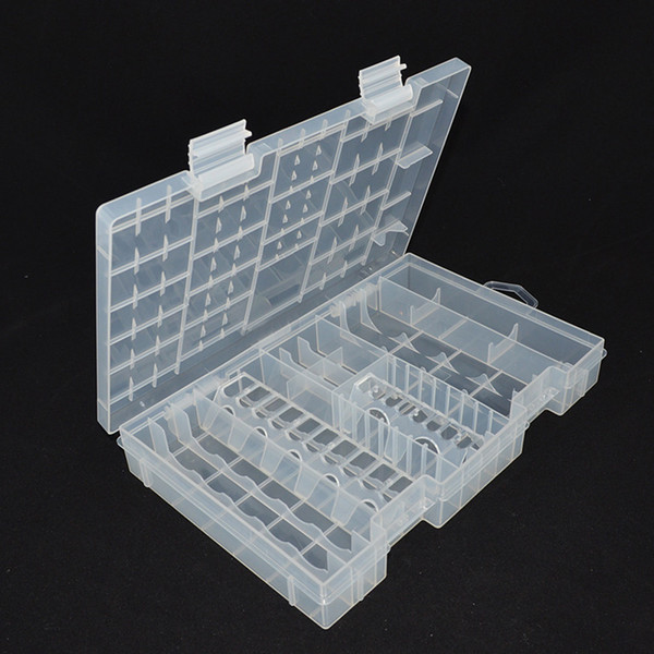 Plastic Transparent Battery Storage Case Box for A AAA C D 9V Battery Holder Case Container Large Size Organizer