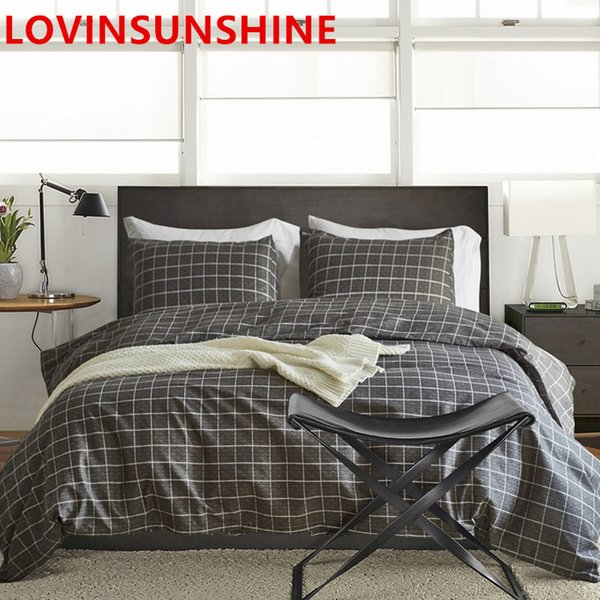 LOVINSUNSHINE Brief Style Pillowcase & Duvet Cover Geometric Patterns Bedding Sets 4pcs Full/Queen/King Size Bed cover set