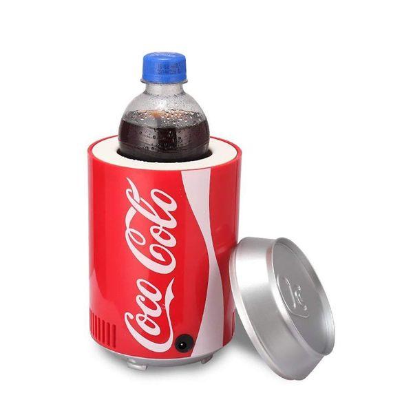 mini usb frigo cooler Riscaldatore cool frigorifero Doppio uso domestico dormitorio DC 5V 12 V frigorifero per ufficio Coca Cola di raffreddamento del vino