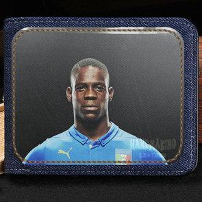 Mario Balotelli wallet Genius back purse Football star short cash note case Money notecase Leather burse bag Card holders