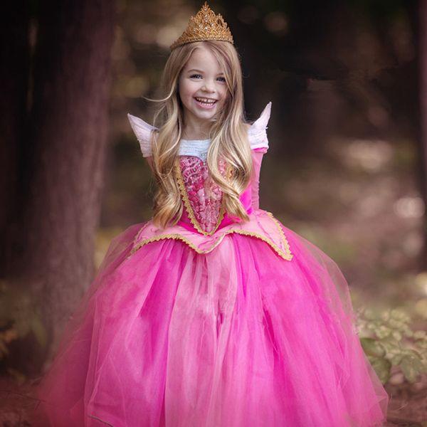 Beautiful Costume Girl Party Wear Western Light Blue Let It Go Long Glitter Frozen Princess Dresses For Kids Birthday Dress..