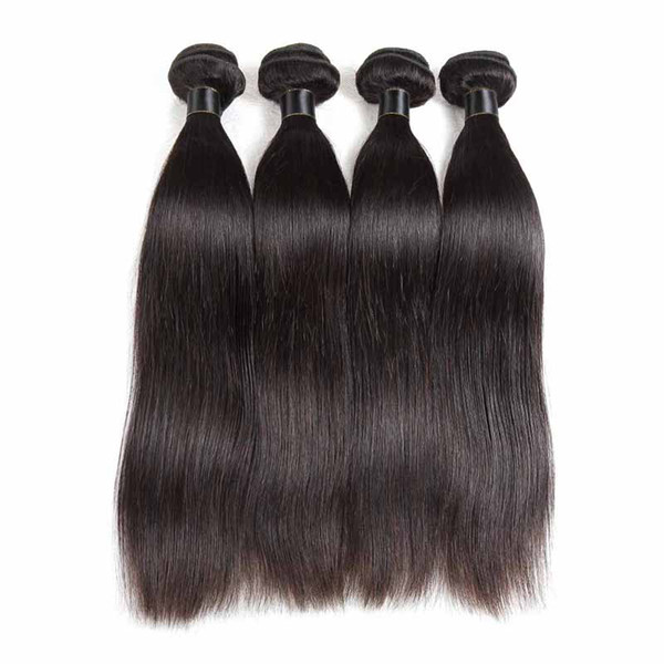 8a Malaysian Brazilian Peruvian Virgin Hair Weaves 3 bundles Straight Style Natural Black Unprocessed Remy Hair Extensions Wefts