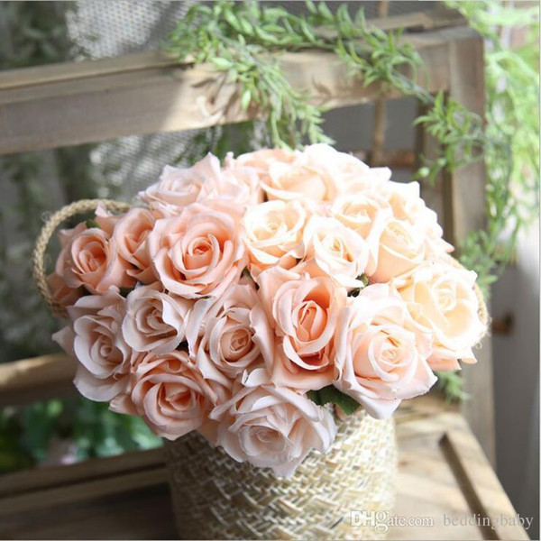 Artificial Hydrangea Flower Head 27cm Fake Silk Single Real Touch Hydrangeas Colors for Wedding Centerpieces Home Party Decorative Flowers