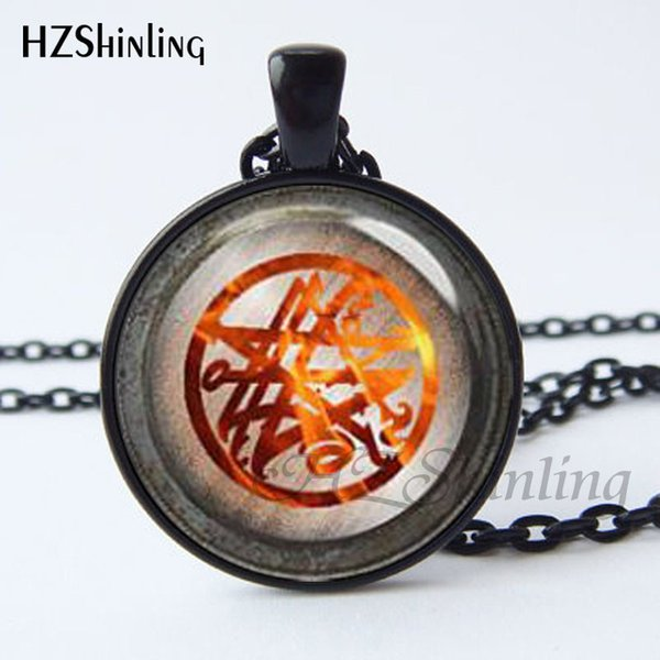 CR-0027 Necronomicon necklace flame pentagram Sigil of the Necronomicon necklace pagan jewelry wicca necklace gothic jewelry