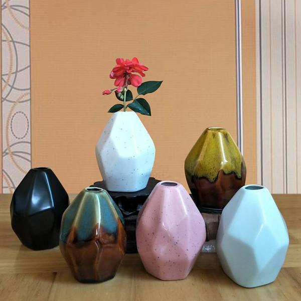 Grosshandel Europaischen Stil Keramik Vase Schone Jardiniere Blume Halter Multiaspect Geometryome Desktop Ornamente Wohnkultur Von Miniatur 32 65 Auf