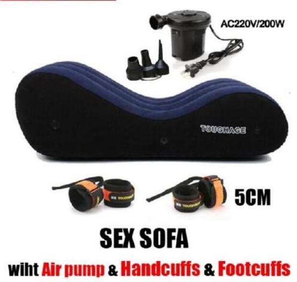 Cama inflável da cadeira do descanso do sofá do sexo com jogos elétricos livres do sexo da mobília do sexo da bomba elétrica para pares casados