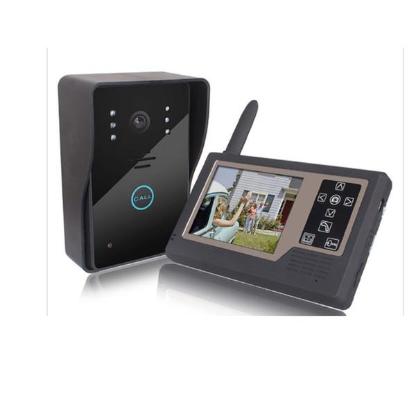 2.4 G interphone vidéo sans fil sonnette 3.5 pouces affichage de la machine d'intérieur commande de verrouillage électronique ouverte