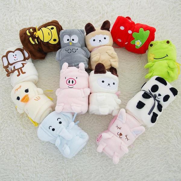 best selling Cute Kids Blankets Cartoon Animal Flannel Coral fleece Velvet Blanket For Newborn Infant Swaddle Towel Wrap Bedding Adults Office Nap Carpet