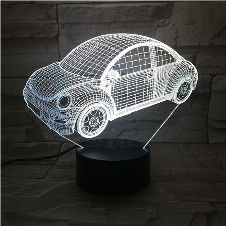 New Remote Control 3D Beatles car Table Lamp USB Colorful 7 Color Change LED Home Party Bedroom Decorative Night Light Gift wn312