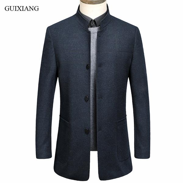 Nuovi uomini di stile boutique per il tempo libero cappotto di lana di alta qualità business casual solido degli uomini slim colletto di lana giacca blazer M-3XL