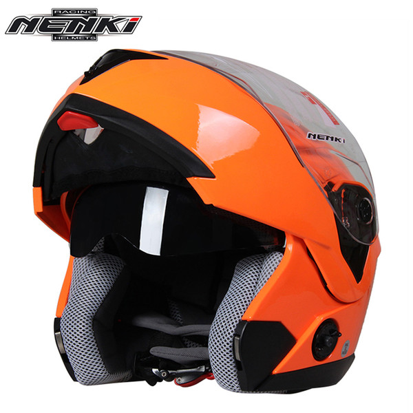 NENKI Motorcycle Helmet Full Face Men Women Street Bike Motor Motorbike Racing Modular Flip Up Dual Visor Sun Shield Lens Helmet