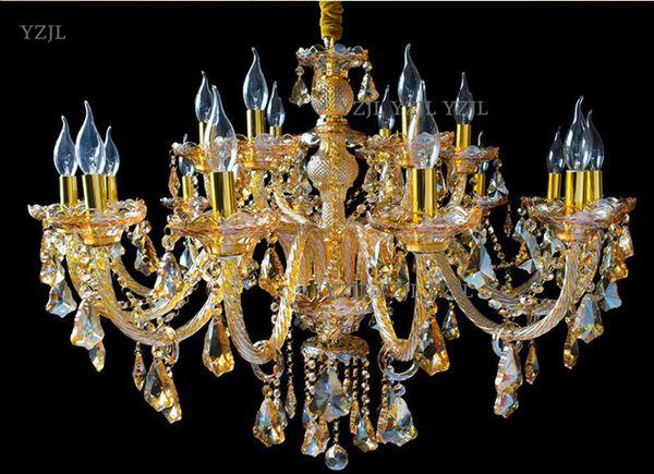 Living room crystal chandelier atmosphere Bedroom clothing store candle crystal chandelier Vintage restaurant beauty salon Pendant lamp