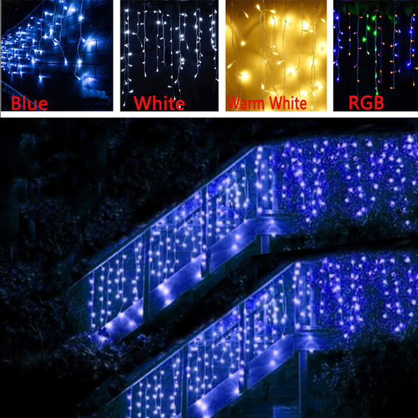 new style 0b089 b723a 5m 96LEDs Garland Christmas Light Led Icicle String Lights Xmas String  Fairy Garlands Strip For Garden Party/Wedding/Curtain Decoration String  Lights ...