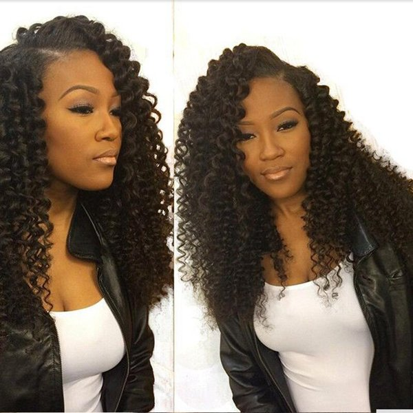 Kinky Curly Brazilian Virgin Hair Full Lace Human Hair Wigs For Black Women Curly 150 Density Lace Front Wigs Natural Hairline Glueless