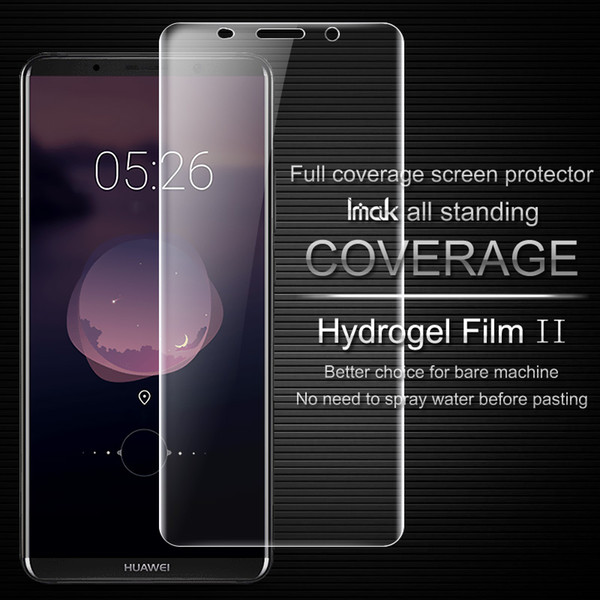 Mate 10 Pro Back Film iMAK Hydrogel II Curved Coverage Soft Protective Film For Huawei Mate 10 Pro Screen Protector