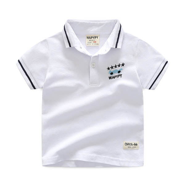 High Quality 1 -7 Y Kids Polo Boys Shirt Summer Short Sleeve Children Polo Shirt For Boy Cotton Tops Tees Kids Polos Shirt