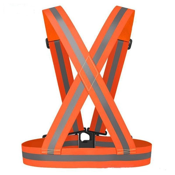 Outdoor Safety Gear Reflective Vest Clothing High Visibility Day And Night Adjustable & Elastic Strip Vest Jacket Running Cycling Wholesale