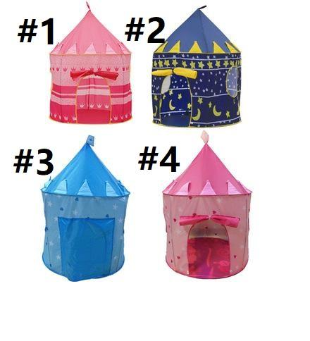 Free Shipping Children Beach Tent Prince and Princess Castle Children Playing Indoor Outdoor Toy Tent Game House