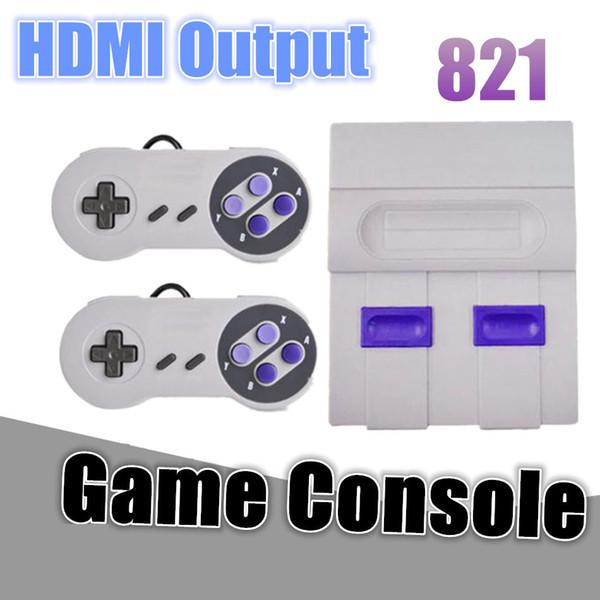 Família handheld consola de jogos dual gamepad hdmi tv video 8bit retro consola de jogos loja 821 jogos clássicos para crianças presente da criança