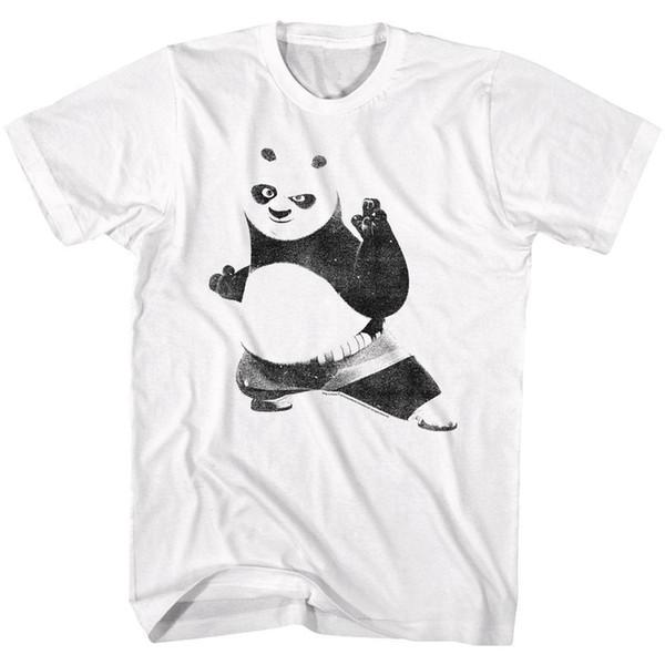 KUNG FU PANDA Men's Short Sleeve T-Shirt WHITE STRIKE A POSE
