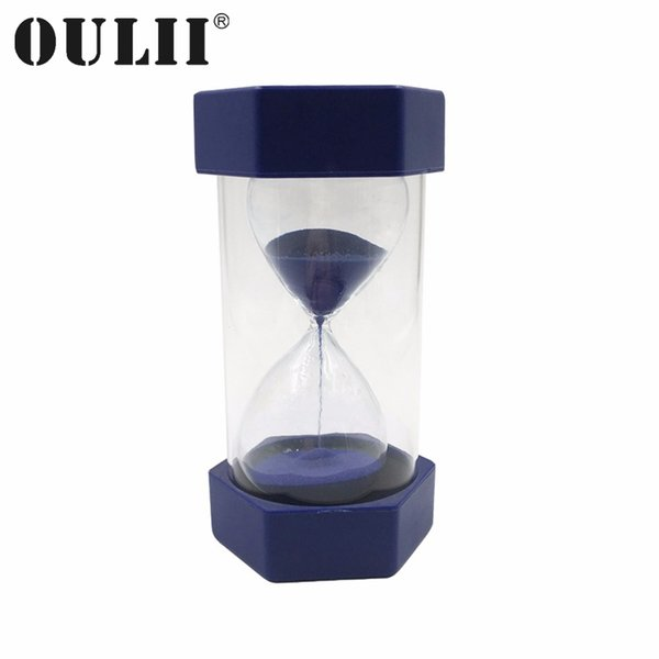 OULII 1/10/15 Minutes Simple Hexagon Sand Hourglass Plastic Security Sand Timer Sandglass Hourglass Gifts