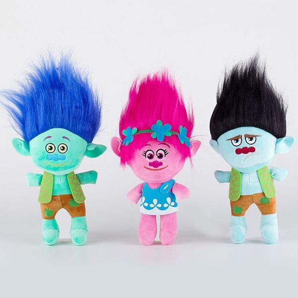 23cm Movie Trolls Plush Toy Doll The Good Luck Trolls Poppy Branch Dream Works Soft Stuffed Toys Gifts for Kids Children