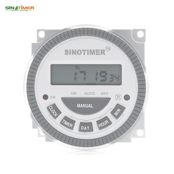 SINOTIMER 110V 16A LCD Digital Multiuso 7 días Control programable Interruptor del temporizador de encendido Temporizador digital Interruptor de iluminación Salida 16A 250V NB