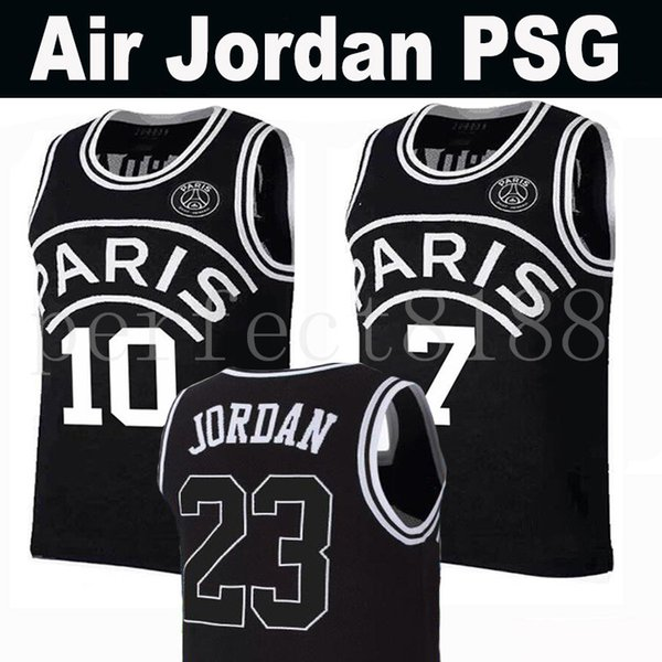huge selection of 8aaa0 c533f 2019 New 2019 PSG Paris Jersey 23 Michael JD 10 NEYMAY JR 7 MBAPPE Paris  Basketball Jerseys Black Wholesale Fast Shipping From Perfect8188, $14.22 |  ...