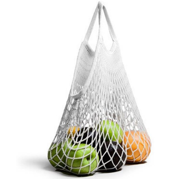 Multifuction Fruits Vegetable Foldable Shopping Bag String Cotton Mesh Pouch For Sundries Juice Storage Bags SN1046