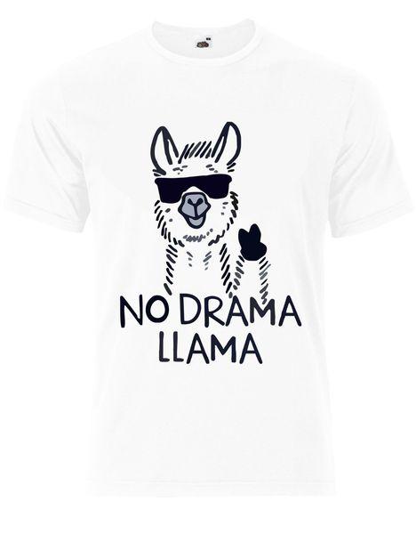 No Drama Llama Funny Animal Quote Mens Tshirt Tee Top AJ84 free shipping funny gift Short Tops Round Neck Tees Men T Shirt Classic