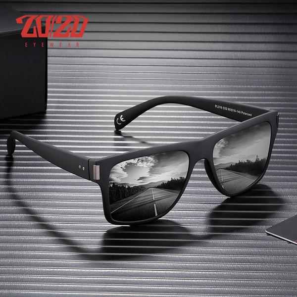 20/20 Brand Classic Polarized sunglasses Men Black Frame Driving Male Sun Glasses Square Eyewear Goggle UV400 Gafas De Sol