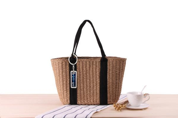 Wholesale And Retail Anti-lost Personality Straw Bag Shoulder Hand-Woven Beach Bag Wild Commuter Handbag