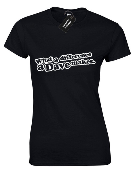 What A Difference A Dave Makes Ideal Gift For A Dave You Know Grey T-Shirt