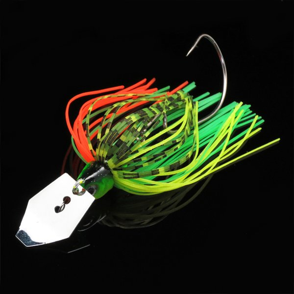 Rubber Jig Lead Hook Baffle Bass Hook Fishing Lure Jig Hooks 10g 70mm Spinner Buss Bait