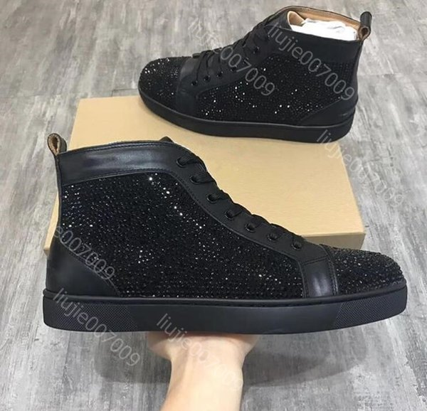 Chaussure Sneaker Top Strass Designer Haut Original Box Casual Femme Acheter Rouge Taille Shipping Or Drop Argent Homme 35 46 Spikes Chaussures Mode rxQeWBodC