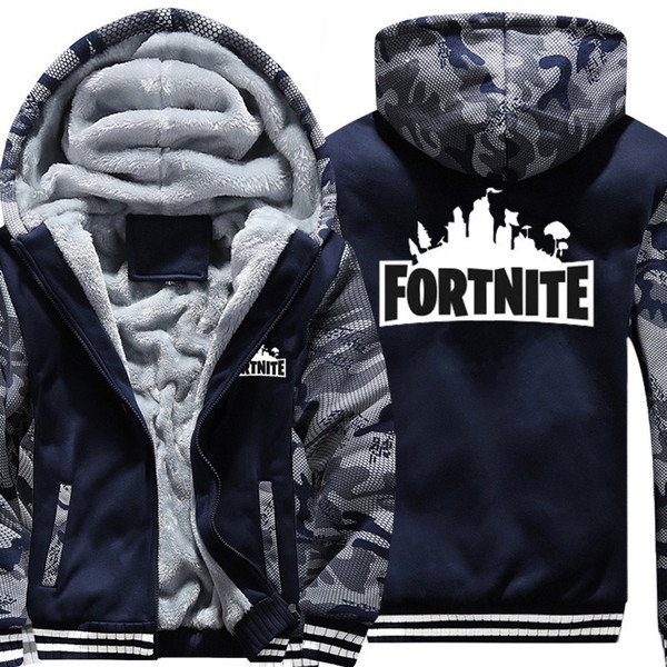 top popular Boys Clothes Winter Super Warm Hoodies Sweatshirts Thick Fleece Teenage Boys Camouflage Jackets Velvet Kids Coats 15-20 Y18102507 2019