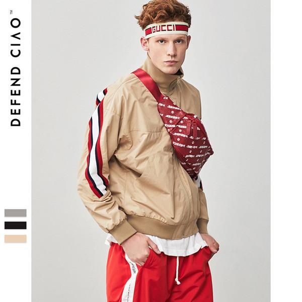 Nuova giacca da uomo autunno sottile striscia di baseball giacca casual giacca casual giacche a vento mens giacche stile cappotto kanye ovest