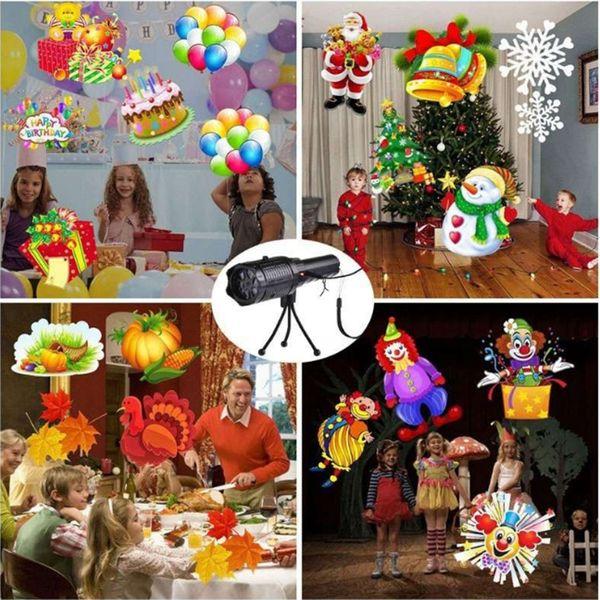 12 Patterns Christmas Laser Snowflake Projector Outdoor LED Waterproof Disco Lights Home Garden Star Light Indoor Decoration