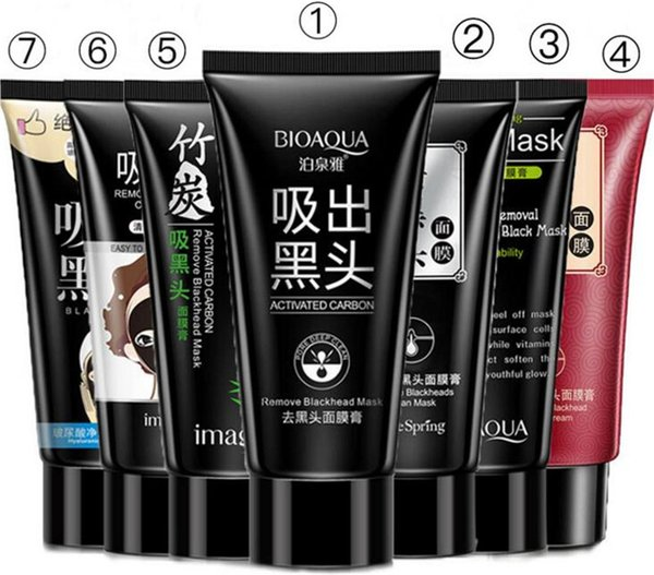 BIOAQUA Black mask SHILLS Blackhead Remover Deep Cleansing Purifying Peel-off Mud collagen facial Pore Cleaner face Peel Masks 7 styles