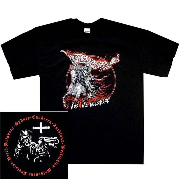 Destroyer 666 Wildfire Tour S-3XL Official T-Shirt Black Death Thrash Metal T Shirt Great Discount Cotton Men Tee Plus Size