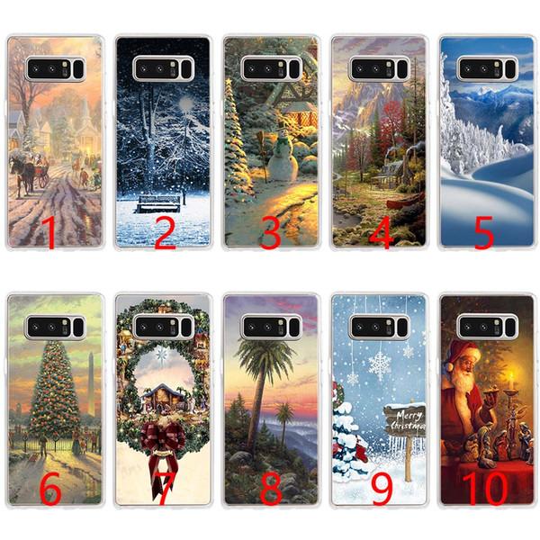 Рождественский Викторианский Мягкий силиконовый чехол для телефона Samsung Note 9 8 S7 Edge S8 S9 Plus