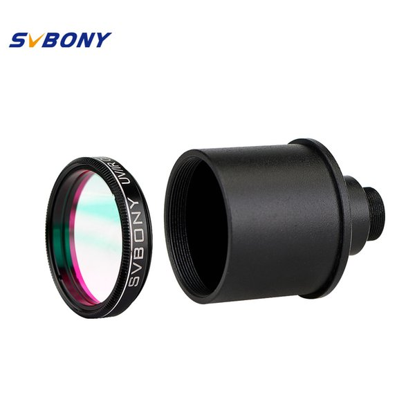 wholesale 1.25'' UV/IR Filter Cut Block Astronomy Telescope Infra Red Filter CCD Camera+Webcam Adapter Monocular Telescope F9127