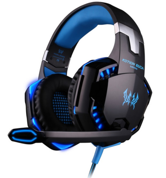 best selling New EACH G2000 Deep Bass Headphone Stereo Surrounded Over-Ear Gaming Headset Headband Earphone with Light for PC LOL Game