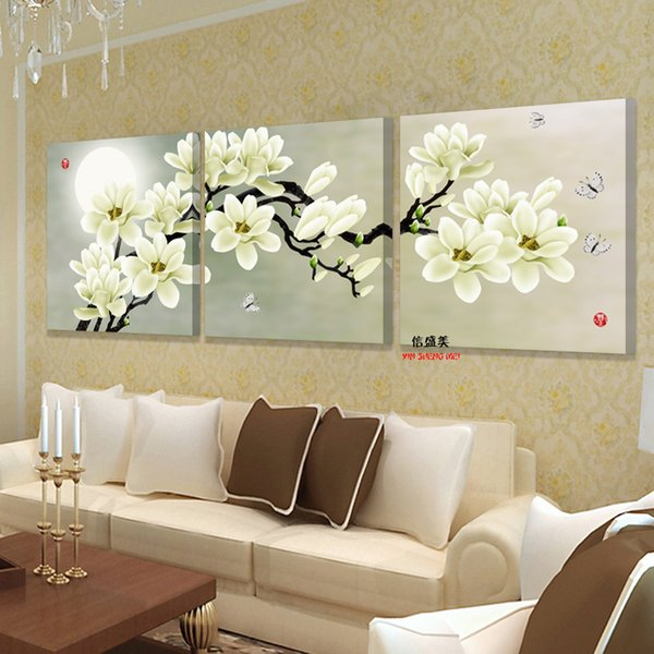 Modern 3 Panel Wall Art Canvas Painting Prints Paintings Modular Pictures For Bedrooms Living Room Flower Home Decor No Frame
