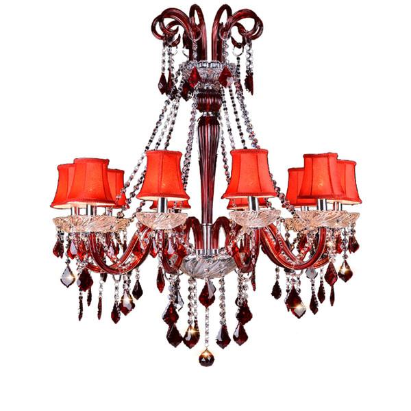 De alta Calidad Moderna Lámpara de Cristal K9 Decoración para el Hogar Moderno Accesorio de Iluminación de Cristal Estilo Europeo de Lujo Araña de Cristal