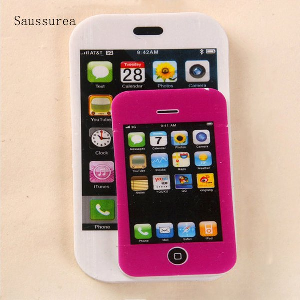 Creative Stationery Cartoon Apple Mobile Phone Eraser ary Students Gift Lovely Children Rubber Office And School Supplies
