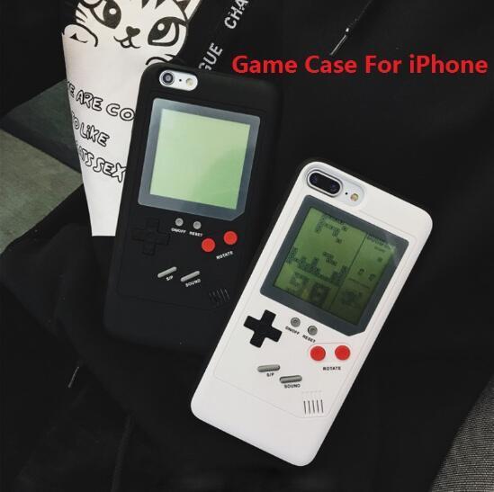 Gameboy Tetris Ninetendo Fundas para teléfono para iPhone 6 6s X Play Blokus Consola de protección Protección de nuevo caso para iPhone 7 8 Plus Cubierta