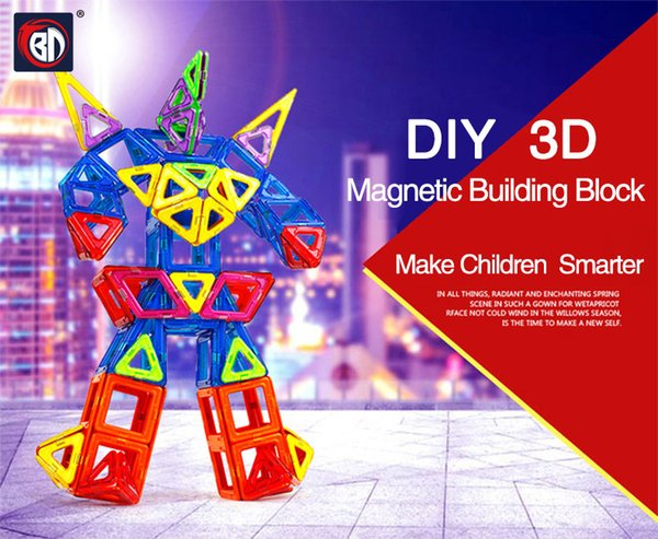 Blocks Magnetic Blocks Magnetic Designer Building Construction Toys Set Magnet Educational Toys For Children Kids Gift