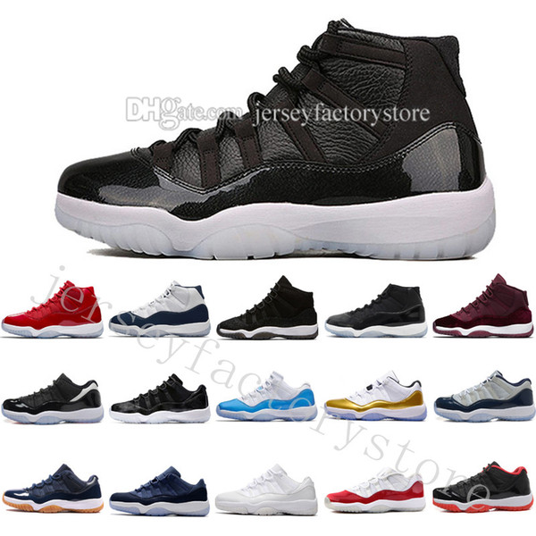 2018 New man basketball shoes 11 Gym Red Chicago Midnight Navy white Olympic Concord Gamma Blue Varsity Red Navy Gum Sport Sneaker US 5.5-13