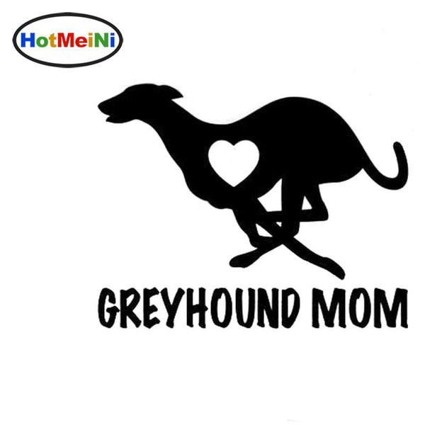 Wholesale Car Styling Greyhound Mom Love Heart - Dog Puppy Vinyl Decal Motorcycle Car Sticker Black/Sliver